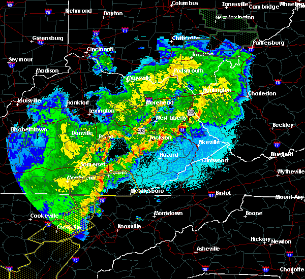 Radar Image for Severe Thunderstorms near Berea, KY at 4/4/2018 12:24 AM EDT
