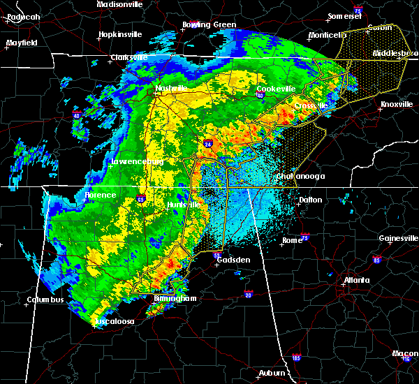 Radar Image for Severe Thunderstorms near Guntersville, AL at 4/3/2018 11:27 PM CDT