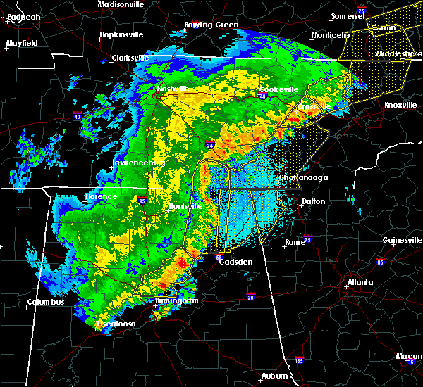 Radar Image for Severe Thunderstorms near Chickamauga, GA at 4/4/2018 12:34 AM EDT