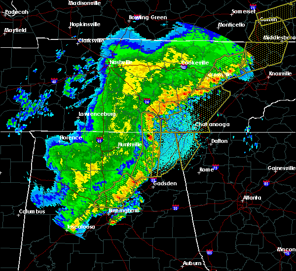 Radar Image for Severe Thunderstorms near Guntersville, AL at 4/3/2018 11:40 PM CDT