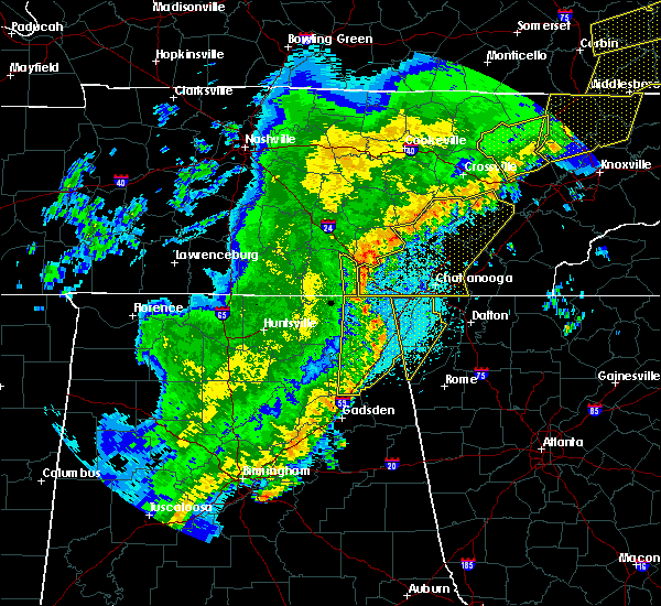 Radar Image for Severe Thunderstorms near Section, AL at 4/3/2018 11:52 PM CDT