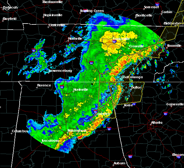 Radar Image for Severe Thunderstorms near Calhoun, GA at 4/4/2018 1:17 AM EDT