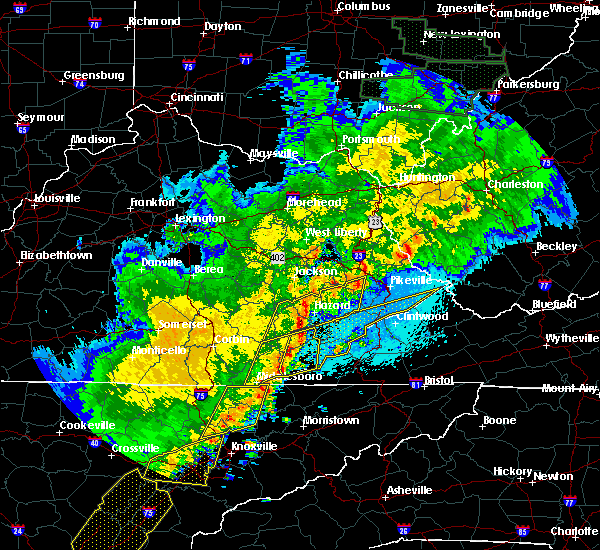 Radar Image for Severe Thunderstorms near Blackey, KY at 4/4/2018 1:17 AM EDT