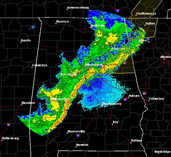 Radar Image for Severe Thunderstorms near Lincoln, AL at 4/4/2018 12:41 AM CDT