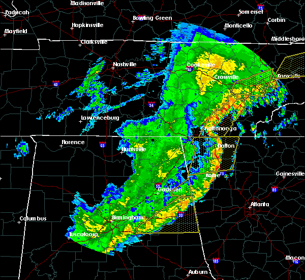 Radar Image for Severe Thunderstorms near Harrison, TN at 4/4/2018 1:45 AM EDT