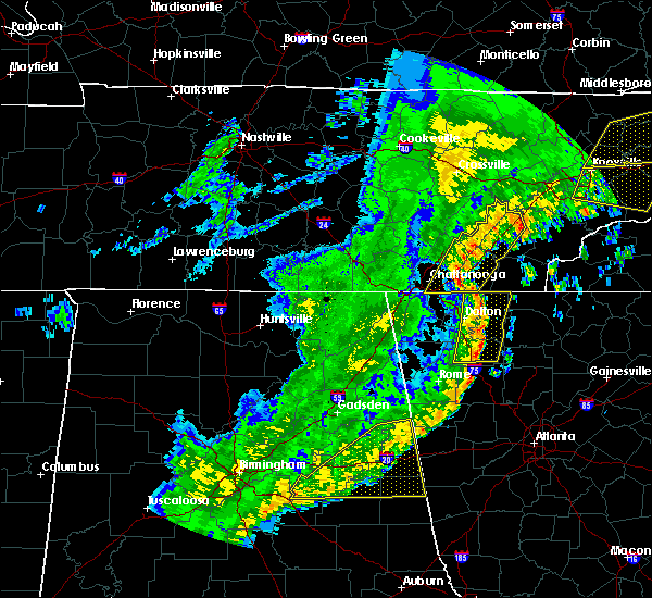 Radar Image for Severe Thunderstorms near Calhoun, GA at 4/4/2018 1:50 AM EDT