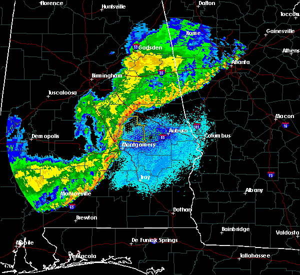 Radar Image for Severe Thunderstorms near Hissop, AL at 4/4/2018 1:55 AM CDT