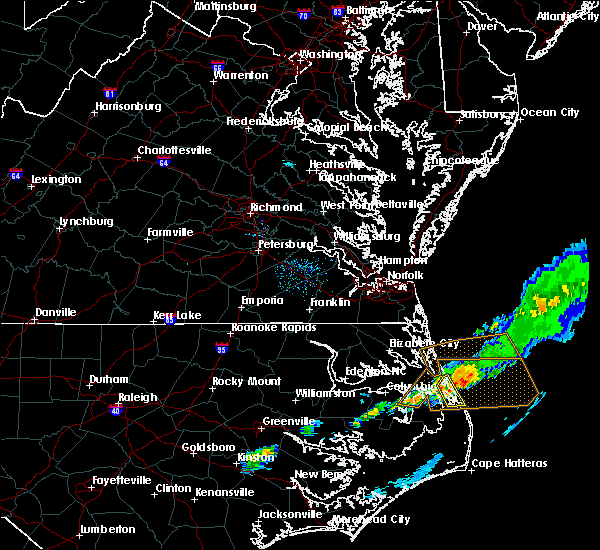 Radar Image for Severe Thunderstorms near Kitty Hawk, NC at 4/4/2018 6:03 PM EDT