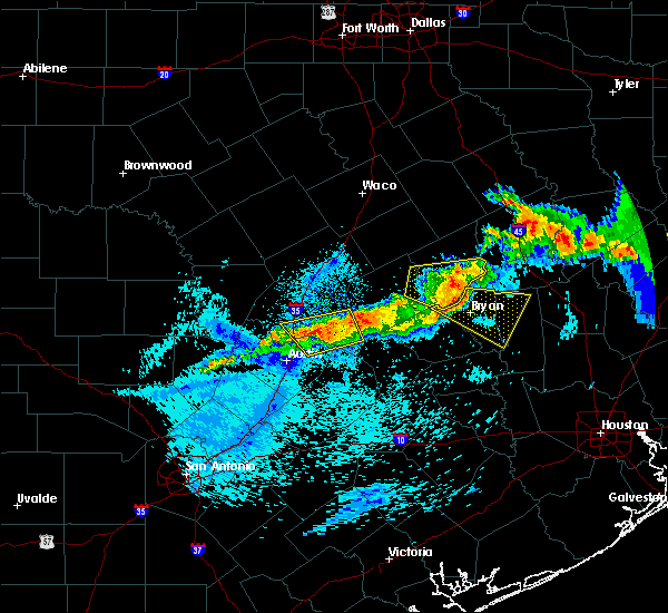 Radar Image for Severe Thunderstorms near Hutto, TX at 4/6/2018 11:51 PM CDT