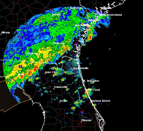 Radar Image for Severe Thunderstorms near Glen St. Mary, FL at 4/7/2018 2:15 PM EDT