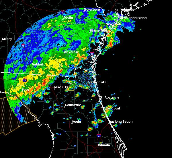Radar Image for Severe Thunderstorms near Glen St. Mary, FL at 4/7/2018 2:27 PM EDT