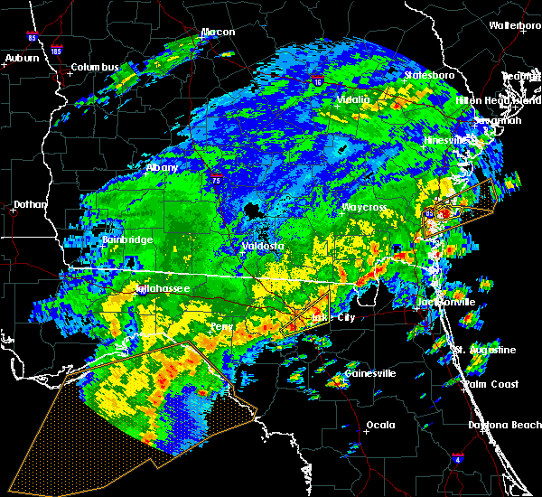 Radar Image for Severe Thunderstorms near Lake City, FL at 4/7/2018 3:01 PM EDT