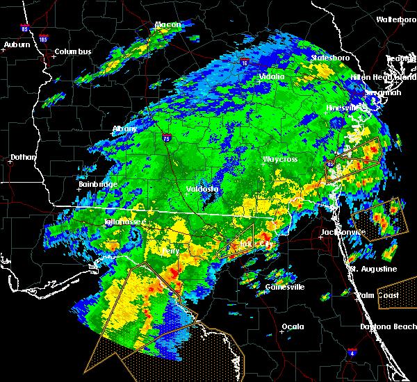 Radar Image for Severe Thunderstorms near Lake City, FL at 4/7/2018 3:28 PM EDT