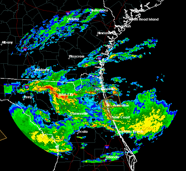 Radar Image for Severe Thunderstorms near St. Augustine, FL at 4/10/2018 8:34 AM EDT