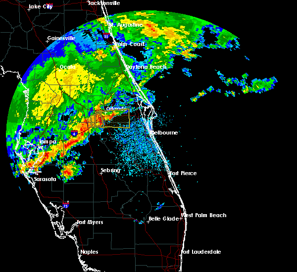 Radar Image for Severe Thunderstorms near Christmas, FL at 4/10/2018 11:40 AM EDT
