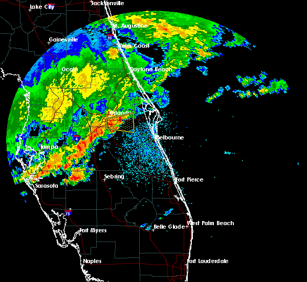 Radar Image for Severe Thunderstorms near Christmas, FL at 4/10/2018 11:52 AM EDT