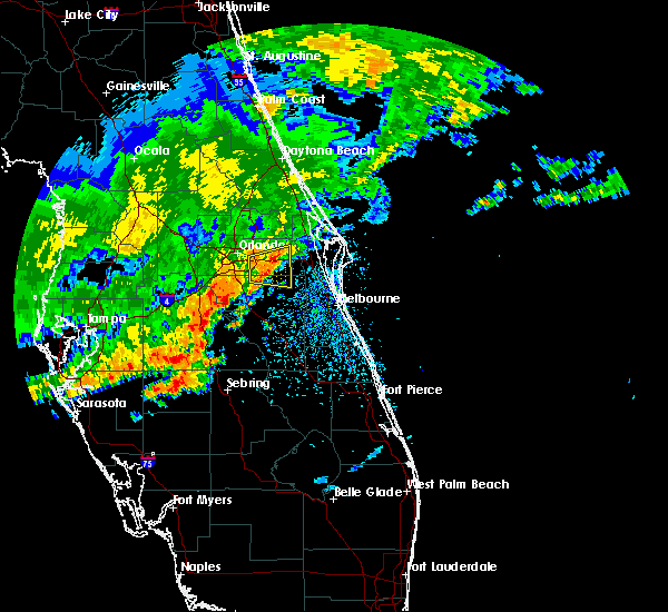 Radar Image for Severe Thunderstorms near Christmas, FL at 4/10/2018 12:03 PM EDT