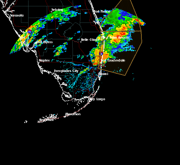 Interactive Hail Maps Hail Map for Fort Lauderdale FL