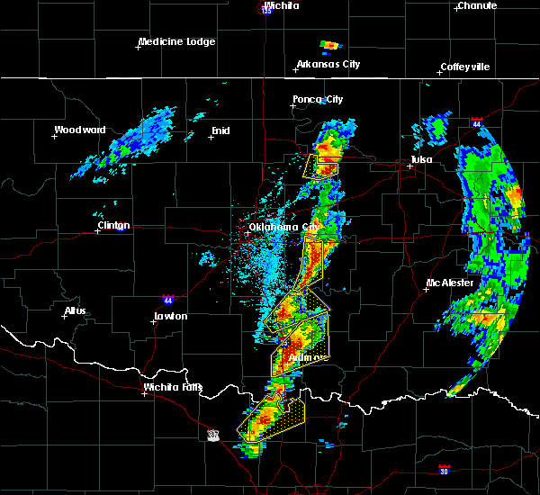 Radar Image for Severe Thunderstorms near Prague, OK at 4/13/2018 2:24 PM CDT
