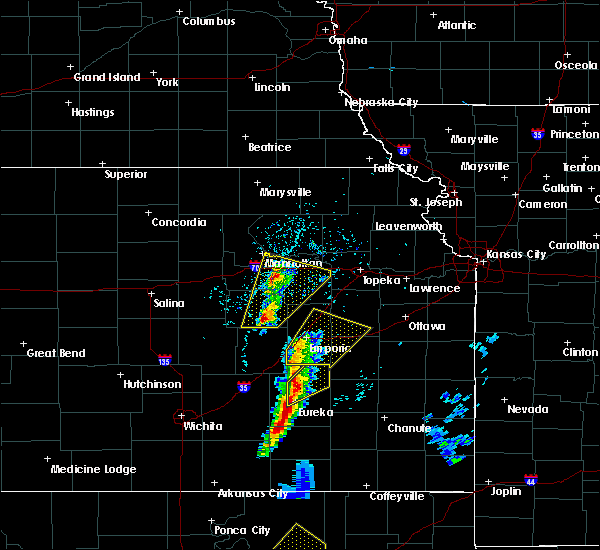 Radar Image for Severe Thunderstorms near Hamilton, KS at 4/13/2018 2:46 PM CDT