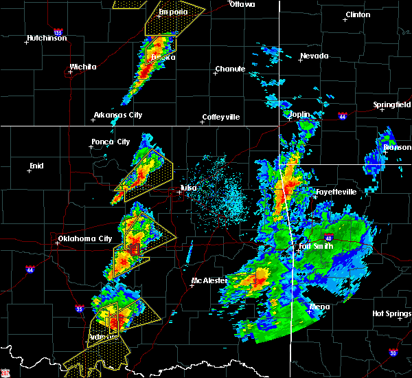 Radar Image for Severe Thunderstorms near Prue, OK at 4/13/2018 2:55 PM CDT