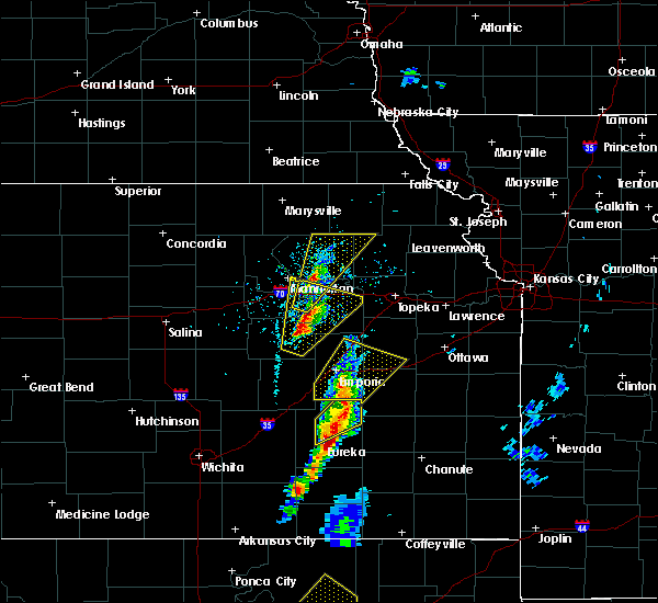 Radar Image for Severe Thunderstorms near Climax, KS at 4/13/2018 3:07 PM CDT