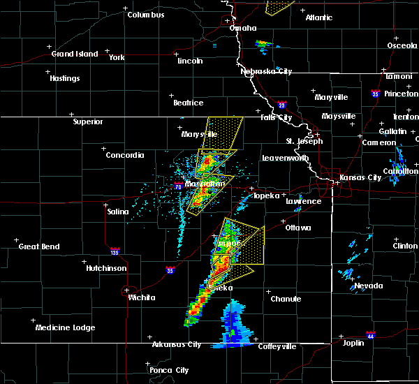 Radar Image for Severe Thunderstorms near Oneida, KS at 4/13/2018 3:22 PM CDT