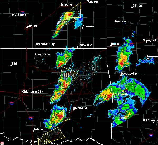Radar Image for Severe Thunderstorms near Beggs, OK at 4/13/2018 3:35 PM CDT