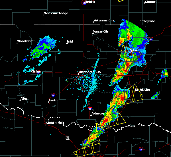 Radar Image for Severe Thunderstorms near Stuart, OK at 4/13/2018 3:41 PM CDT