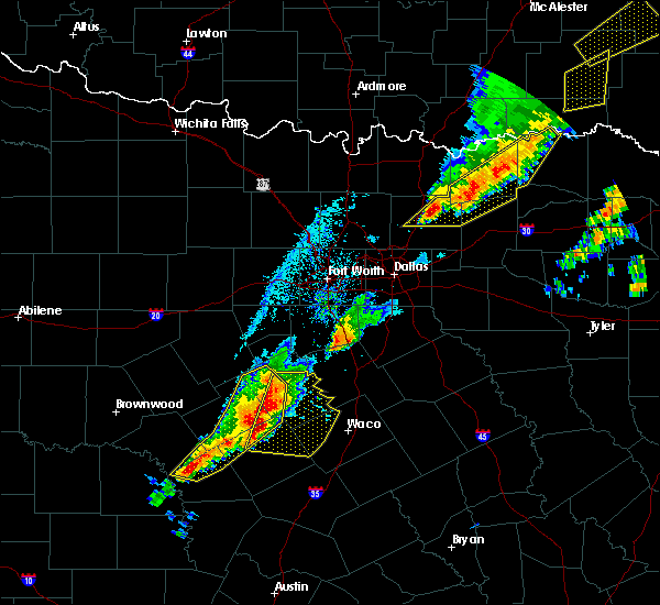 Radar Image for Severe Thunderstorms near Gatesville, TX at 4/13/2018 6:35 PM CDT