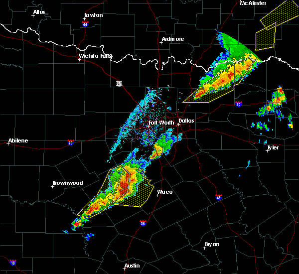 Radar Image for Severe Thunderstorms near Gatesville, TX at 4/13/2018 6:44 PM CDT
