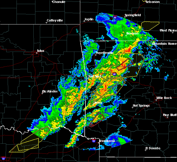 Radar Image for Severe Thunderstorms near Winthrop, AR at 4/13/2018 7:04 PM CDT