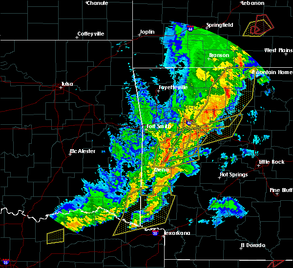 Radar Image for Severe Thunderstorms near Oden, AR at 4/13/2018 7:50 PM CDT