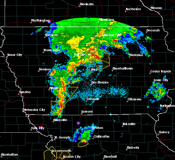 Radar Image for Severe Thunderstorms near Cromwell, IA at 4/13/2018 8:03 PM CDT