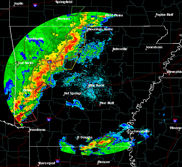 Radar Image for Severe Thunderstorms near Clinton, AR at 4/13/2018 8:09 PM CDT