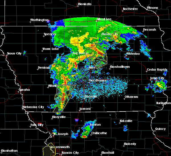 Radar Image for Severe Thunderstorms near Cromwell, IA at 4/13/2018 8:16 PM CDT