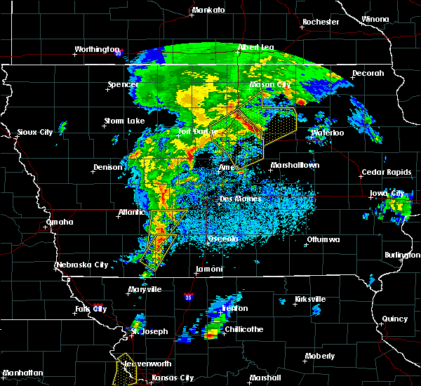 Radar Image for Severe Thunderstorms near Hansell, IA at 4/13/2018 8:22 PM CDT