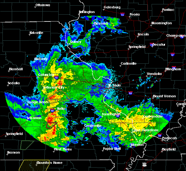 Radar Image for Severe Thunderstorms near St. James, MO at 4/13/2018 8:29 PM CDT
