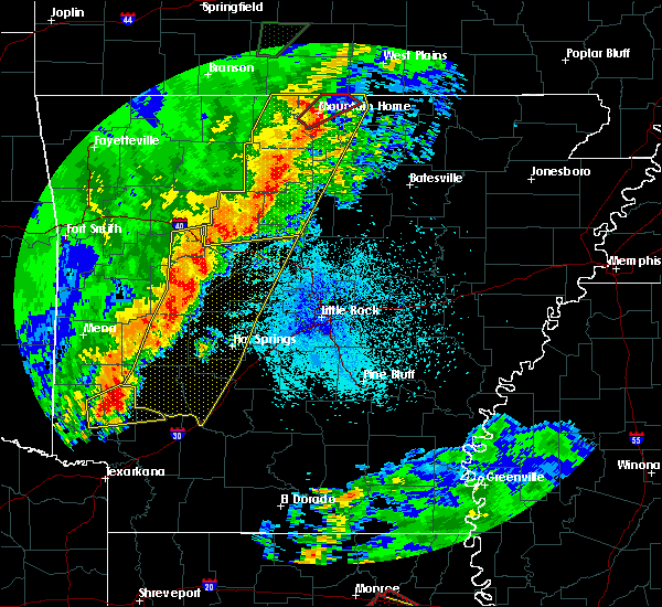 Radar Image for Severe Thunderstorms near Clinton, AR at 4/13/2018 8:41 PM CDT