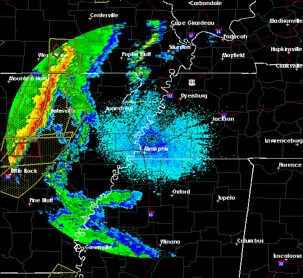 Radar Image for Severe Thunderstorms near Newark, AR at 4/13/2018 10:14 PM CDT