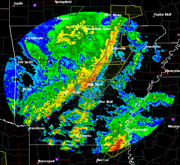 Radar Image for Severe Thunderstorms near Woodson, AR at 4/13/2018 10:26 PM CDT