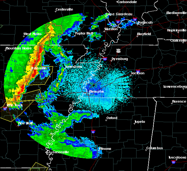 Radar Image for Severe Thunderstorms near Newark, AR at 4/13/2018 10:39 PM CDT