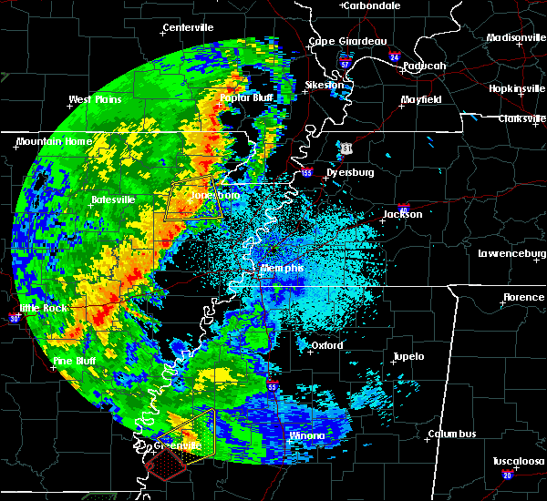 Radar Image for Severe Thunderstorms near Marie, AR at 4/13/2018 11:46 PM CDT