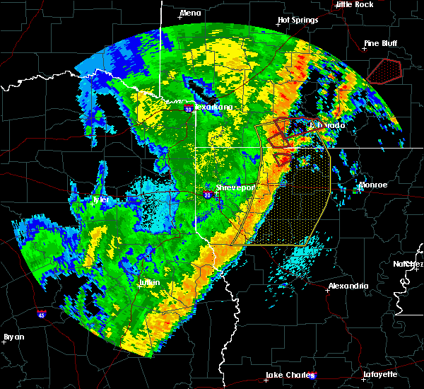 Radar Image for Severe Thunderstorms near Calion, AR at 4/14/2018 1:33 AM CDT