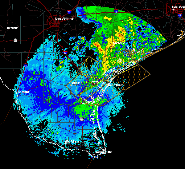 Radar Image for Severe Thunderstorms near Port Aransas, TX at 4/14/2018 2:34 AM CDT
