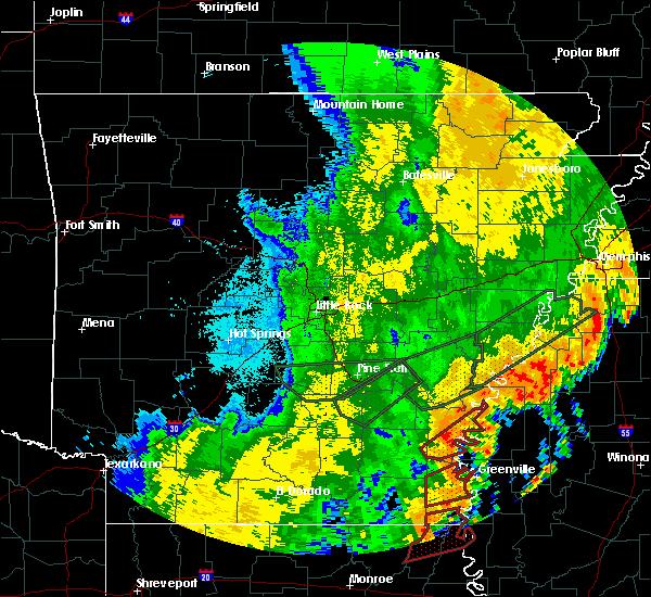 Radar Image for Severe Thunderstorms near Arkansas City, AR at 4/14/2018 3:50 AM CDT