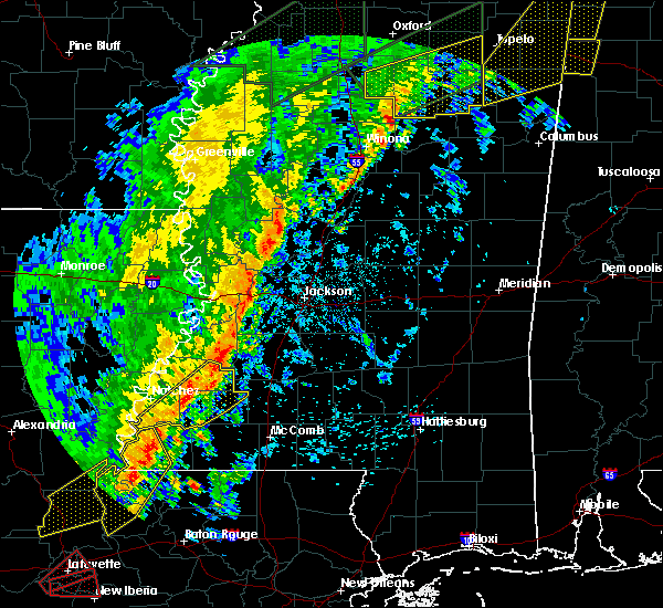 Radar Image for Severe Thunderstorms near Flowood, MS at 4/14/2018 6:56 AM CDT