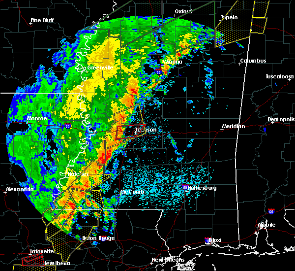Radar Image for Severe Thunderstorms near Flowood, MS at 4/14/2018 7:15 AM CDT
