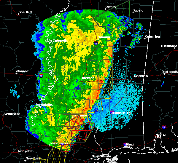 Radar Image for Severe Thunderstorms near Prentiss, MS at 4/14/2018 9:08 AM CDT
