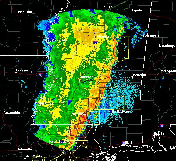 Radar Image for Severe Thunderstorms near Ellisville, MS at 4/14/2018 9:21 AM CDT